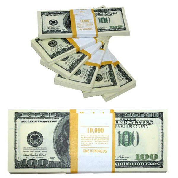 Сувенирная пачка денег «10 000 американских долларов» ― «Торг-Хаус ...